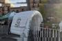 Refuerzan medidas sanitarias con túnel en la Plaza Bicentenario