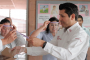 Entrega Julio César Chávez 50 protectores faciales  impresos en 3D en Hospital General del ISSSTE