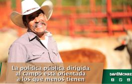 La política pública dirigida al campo está orientada a los que menos tienen
