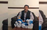 Gregorio Macías entrega Apoyos Sanitarios a comerciantes de Mazapil