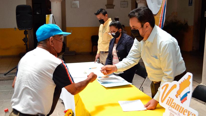 Realiza Miguel Torres 3 era  entrega de apoyos económicos a familias Villanovenses afectadas por contingencia sanitaria