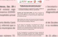Informa Secretaría de Salud de Zacatecas dos casos positivos de covid-19 diagnosticados por hospitales privados.
