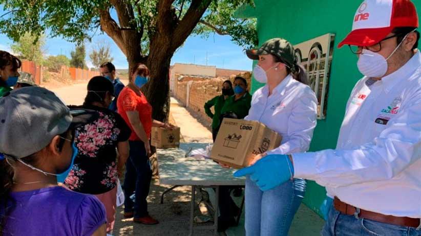 Se benefician familias de Chalchihuites con apoyos sociales emergentes.
