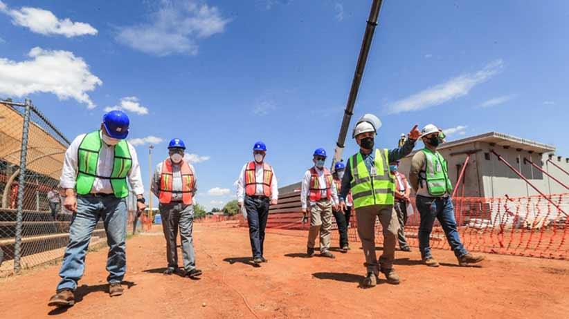 Supervisa Gobernador Tello construcción de Módulo de Hospitalización COVID-19 Fresnillo.