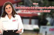 Video: Conductores del transporte público reciben apoyos del SEDIF.