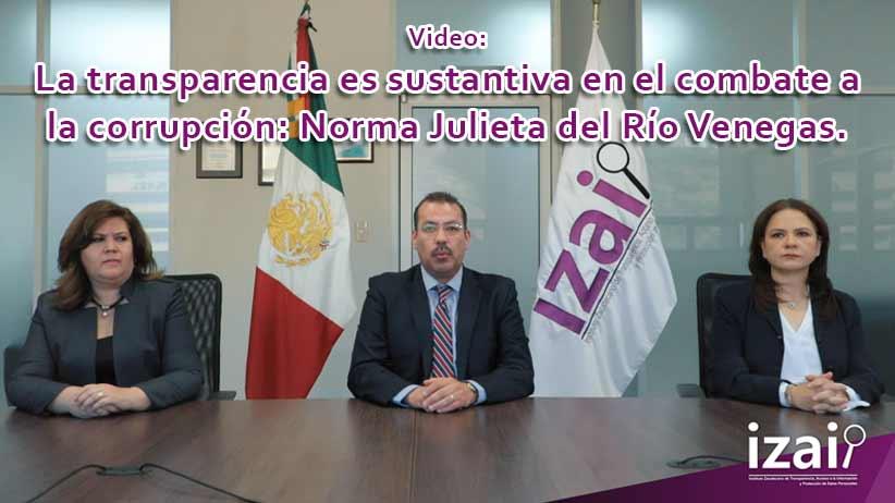 La transparencia es sustantiva en el combate a la corrupción: Norma Julieta del Río Venegas.