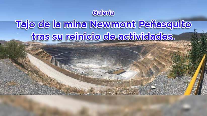 Foto galería: Así luce el tajo de la mina Newmont Peñasquito tras su reinicio de actividades.