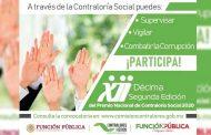 Invita Gobierno Estatal a participar en el Premio Nacional de Contraloría Social 2020.