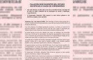 Fallecen dos pacientes del Estado Zacatecas a causa de coronavirus.