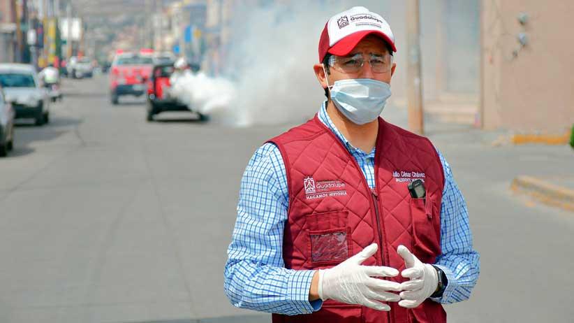 Habrá un antes y un después de la pandemia: Julio César Chávez al iniciar la Jornada de Santización en Guadalupe
