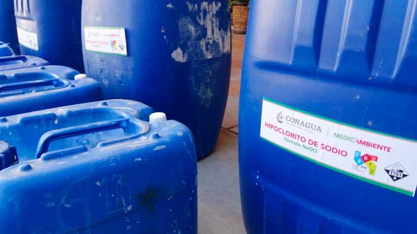 Entrega Gobierno 8.5 toneladas de hipoclorito de sodio a Jerez y Trancoso.