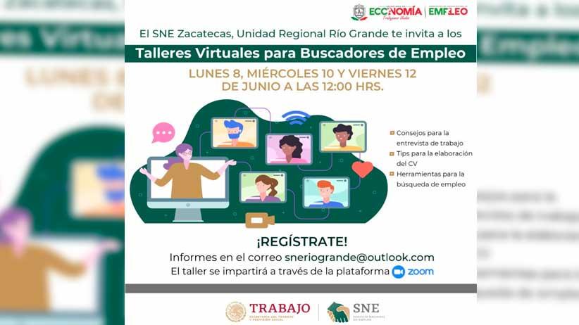Realizará Gobierno Estatal taller  virtual para buscadores de empleo en Río Grande.