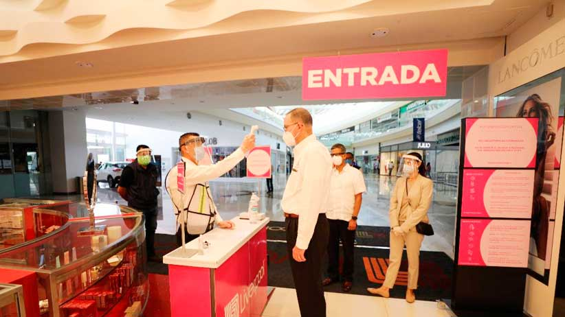 Ante reapertura de un sector de Plaza Galerías, SEZAC verifica cumplimiento de medidas sanitarias.
