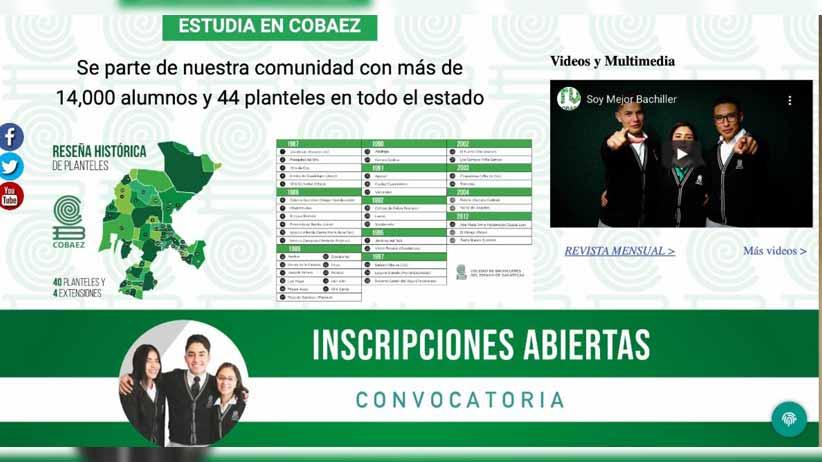Amplía Cobaez periodo de preinscripción para estudiantes de nuevo ingreso
