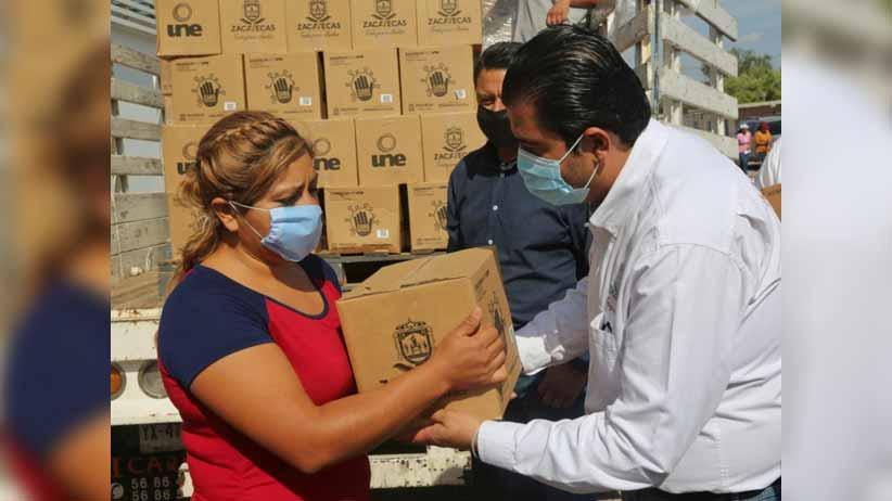 Lleva Gobierno Estatal alimentos a habitantes de Río Florido y Santiaguillo, en Fresnillo