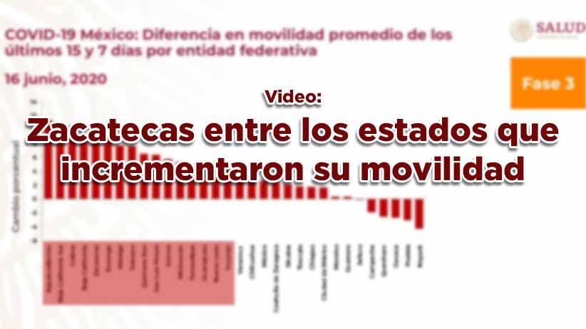 Zacatecas entre los estados que incrementaron su movilidad.