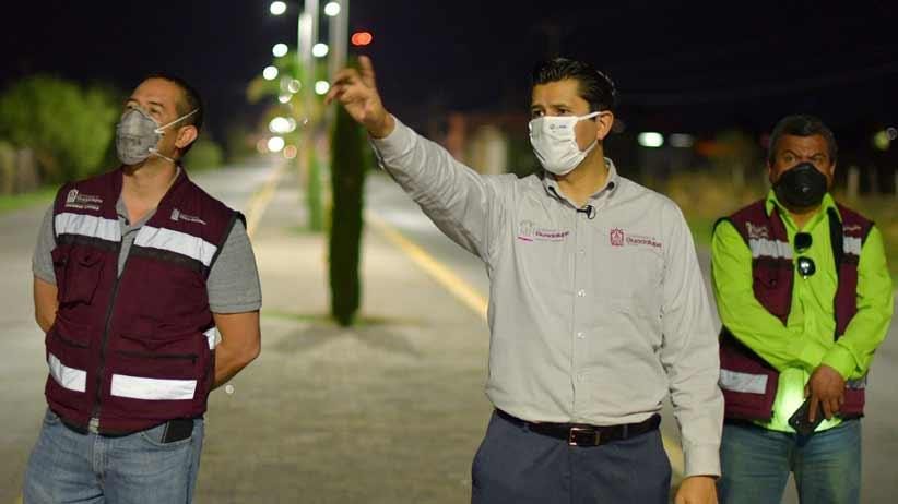 Estas son acciones que trascienden: Julio César Chávez, al encender circuito de alumbrado público en Tacoaleche