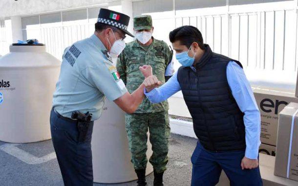 Entrega Julio César Chávez donativo a la Guardia Nacional ( Vídeo )