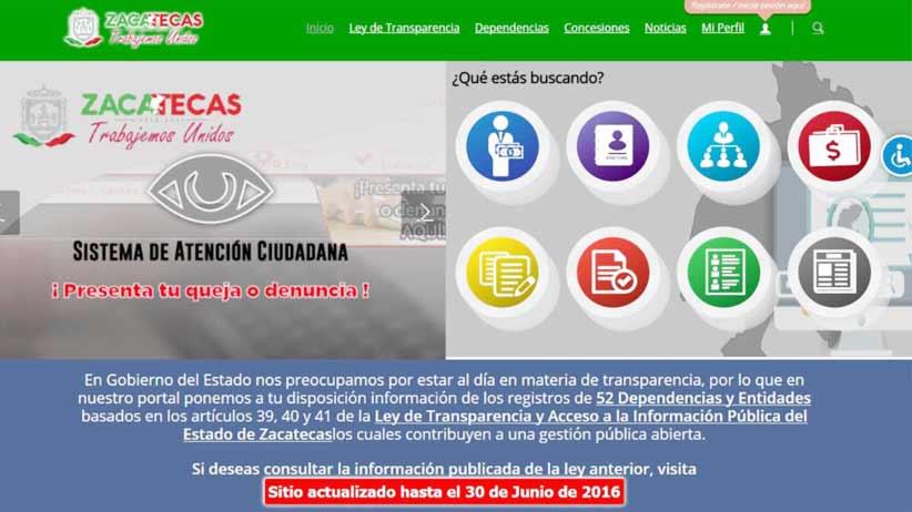 Certifican accesibilidad del portal de transparencia del Gobierno de Zacatecas.