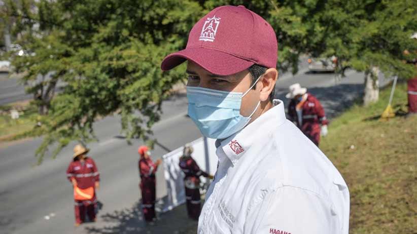 Supervisa Julio César Chávez limpieza en el Bulevar Metropolitano