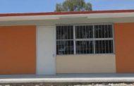 Mejora Tello espacios educativos y vialidades de Villa Garcia.