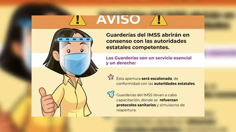 Guarderías del IMSS abrirán en consenso con las autoridades estatales competentes