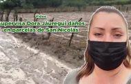 Supervisa Dora Jáuregui daños en parcelas de San Nicolás (video)