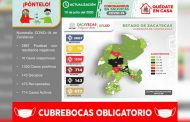 Suma Zacatecas 1330 casos positivos de Coronavirus