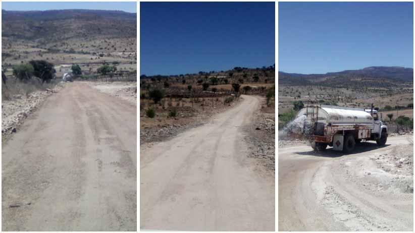 Realizan labores de revestimiento en caminos rurales de Villanueva