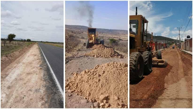 Gobierno del Estado da mantenimiento a tramos carreteros de distintos municipios