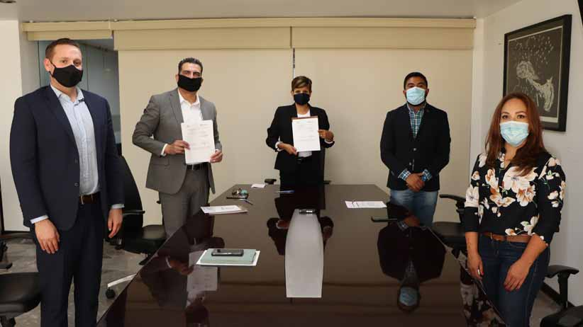 Firman convenio Ayuntamiento de Guadalupe y Nacional Financiera