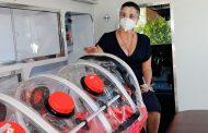Entrega Logística Express La Bufa ambulancia a Gobierno Estatal, para traslado de pacientes COVID