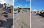Continúa bacheo en carreteras y caminos de Zacatecas