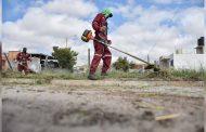 Con las brigadas de limpieza mantenemos a limpia y bonita nuestra ciudad de Guadalupe