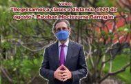 """""""Regresamos a clases a distancia el 24 de agosto"""": Esteban Moctezuma Barragán (video)"""