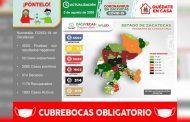 Llega Zacatecas a 3 mil 095 casos positivos de COVID-19