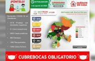 Ya son 2 mil 850 casos positivos de COVID-19 en Zacatecas