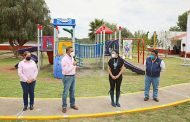 Inaugura Cristina Rodríguez de Tello parque inclusivo en Cuauhtémoc