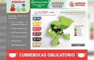Tiene Zacatecas 51 nuevos casos de COVID-19