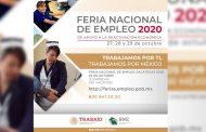 Invitan a la Feria Nacional del Empleo 2020; habrá más de 600 vacantes