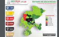 Registra Zacatecas 118 nuevos casos de Covid en un día