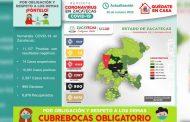 Inicia Zacatecas la semana con 85 nuevos contagios de COVID-19