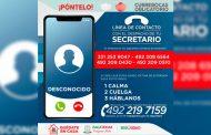 Alerta SSP sobre números telefónicos utilizados para extorsionar