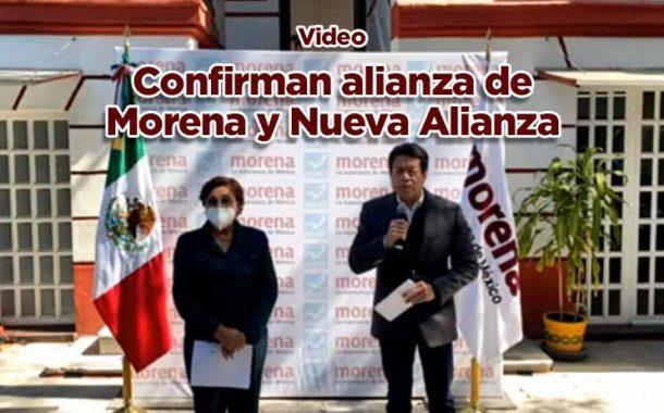 Confirma Mario Delgado alianza de Morena con Nueva Alianza (video)