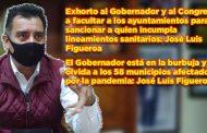 Exhorto al Gobernador y al Congreso a facultar a los ayuntamientos para sancionar a quien incumpla con los lineamientos sanitarios: José Luis Figueroa