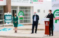 Entrega Alejandro Tello reconstrucción del Centro de Salud en Teúl de González Ortega