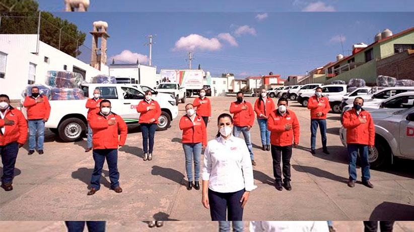 Encabeza Cristina Rodríguez de Tello inicio de entrega de apoyos invernales
