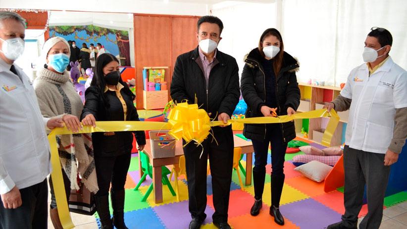 Inaugura Miguel Torres espacio para estimulación temprana