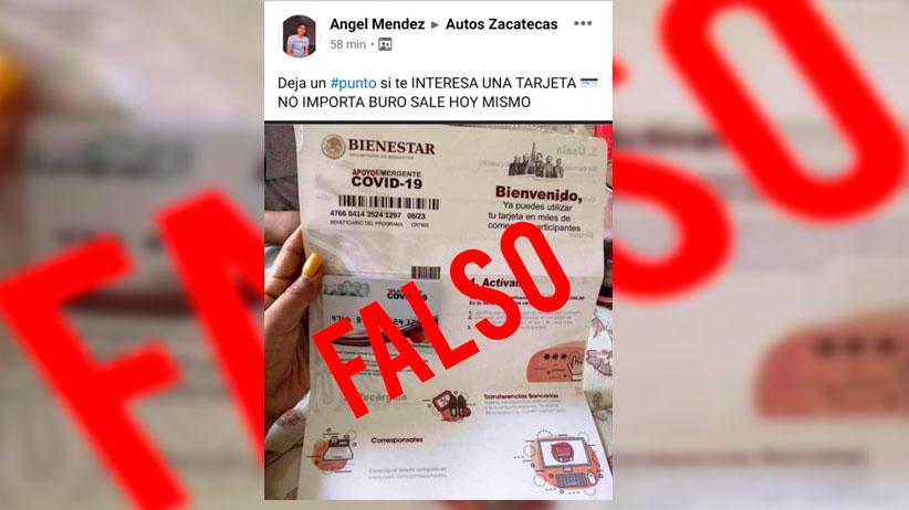 Gobierno de México alerta a la población de Zacatecas por presunto fraude con entrega de tarjetas falsas