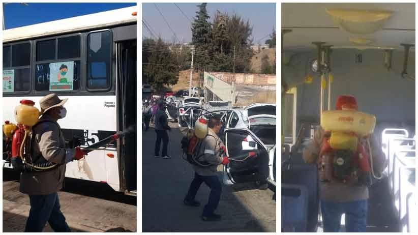 Continúan con la desinfección del transporte público
